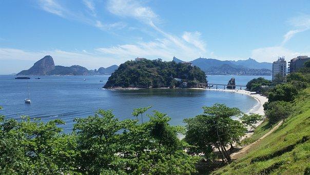 Rio De Janeiro, Pão De Açucar, Brazil, Beach, Mar