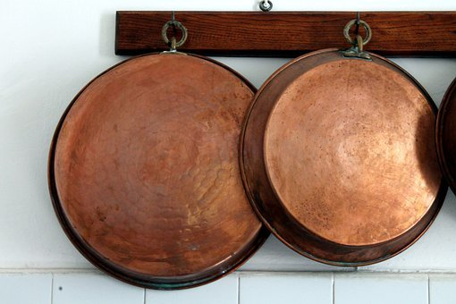 Pots, Pot, Brass, Kitchen, Copper, Tradition