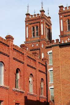 Confederate, Powder, Works, Bricks, Structure, Building