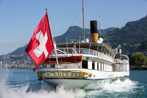 Switzerland, Steamboat, Beautiful Steam Ship