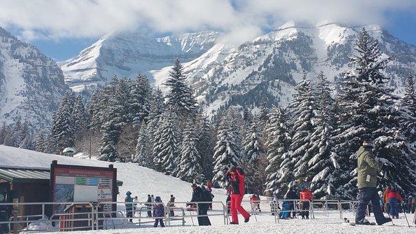 Winter, Sundance, Lodge, Ski, Snow, Utah, Usa, Western