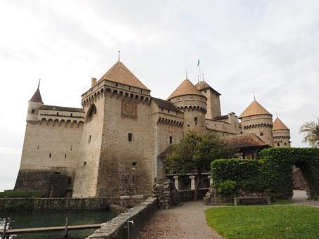 Chillon Castle, Castle, Chillon, Veytaux, Wasserburg