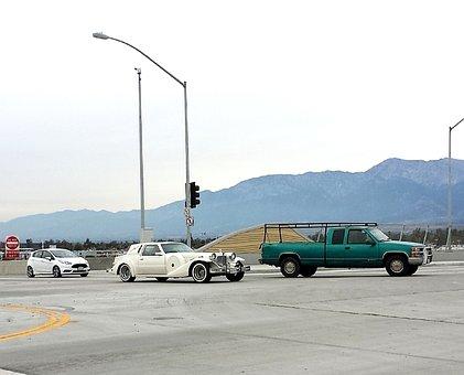 Transportation, Traffic, Freeway, Cars, Old, Vintage