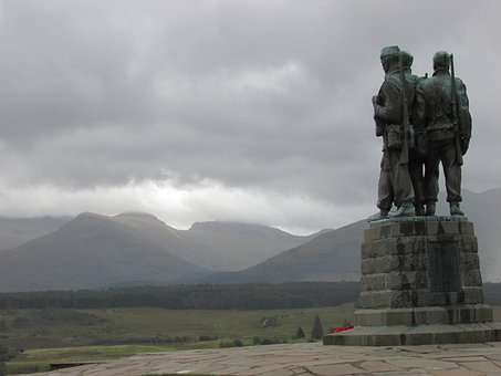 Scotland, War Memorial, Spean Bridge, Memorial
