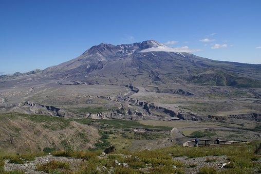 Mount, St, Helens, Volcano, Washington State, Usa, Lava