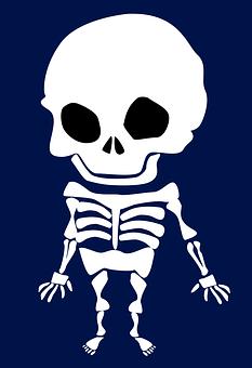 Skeleton, Halloween, Weird, Scary, Skull And Crossbones
