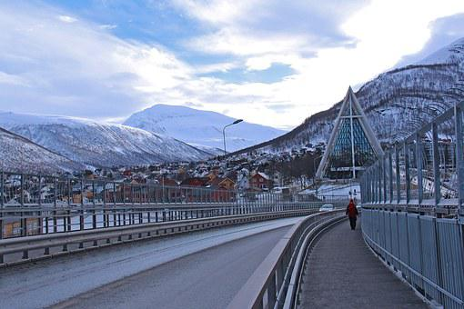 Iconic, Cathedral, Tromso Bridge, Arctic Cathedral