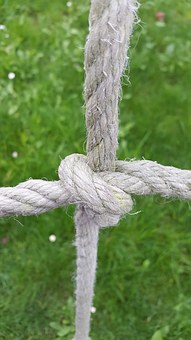 Cross, Knot Rope, Bound, Green, Beautiful, Color