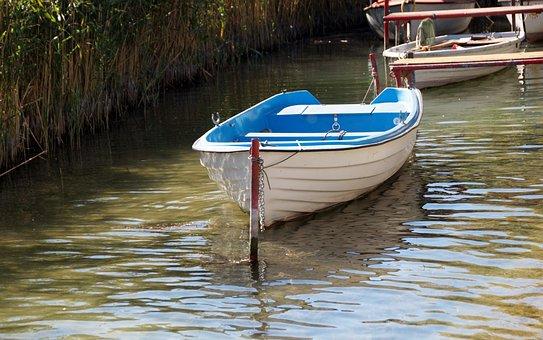 Rowboat, Boat, Punts, Anchored, Bound