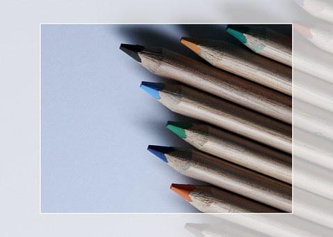 Depicting, Pencil, Brown, Colorful, Colored Pencils