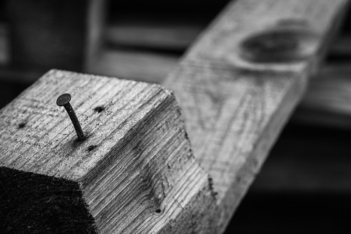Palette, Building, Build, Wood, Nail, Black And White