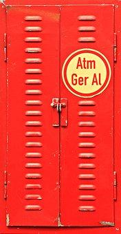 Locker, Metal Cabinet, Storage Cupboard, Red, Cabinet