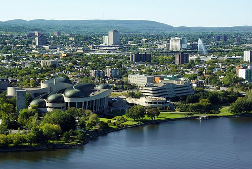 Canada, Ottawa, Architecture, Panorama