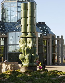 Canada, Ottawa, Place, Totem, Civilization
