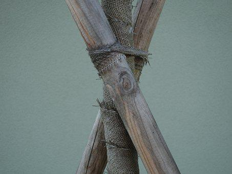 Log, Supported, Bound, Connected, Wrapped Around, Wood