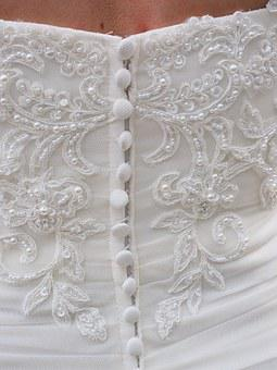 Wedding Dress, Corset, Buttons, Eng, Fabric, Great