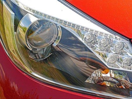Car Headlights, Led, Daytime Running Lights, Pkw, Auto