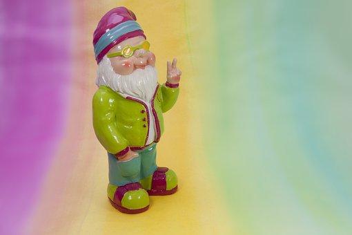 Dwarf, Peace, Spring, Garden, Mood, Colorful, Summer