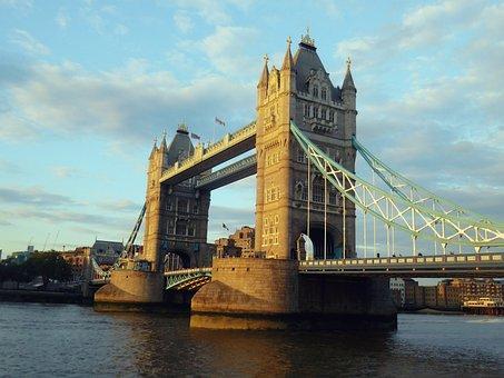 Tower Bridge, London, Tower, Bridge, River, England