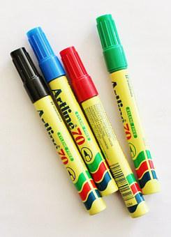 Edding, Felt-tip Pen, Pens, Flipchart, Blue, Green, Red