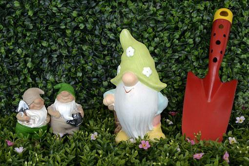 Garden Gnome, Dwarf, Figure, Funny, Fabric