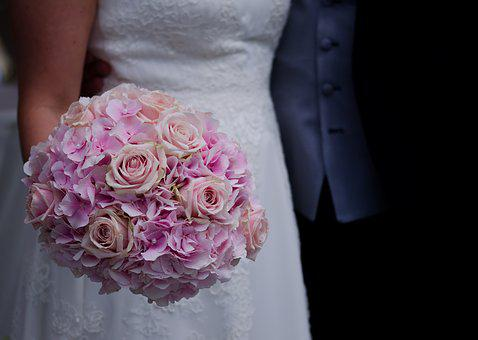 Wedding, Bridal Bouquet, Bouquet, Roses, Flowers, Marry