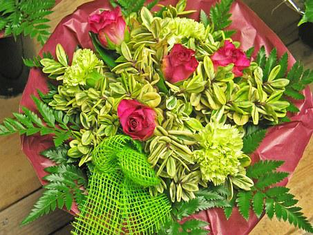 Bouquet, Flowers, Thank You, Gift, Color, Cloves