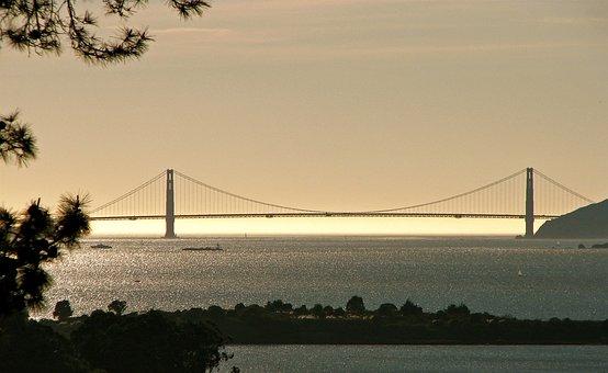 Fog Bank, Golden Gate, Francisco, California, Golden