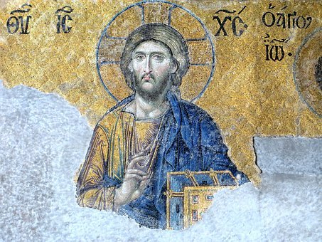 Christ, Icon, Hagia Sophia, Istanbul, Mosaic