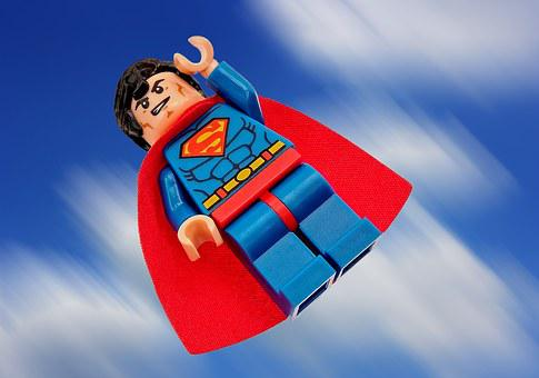 Superman, Lego, Superhero, Hero, Super, Man, Clark