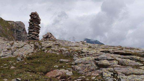 Austria, Alp Seas, Cairn, Mountains, Hiking, Landscape