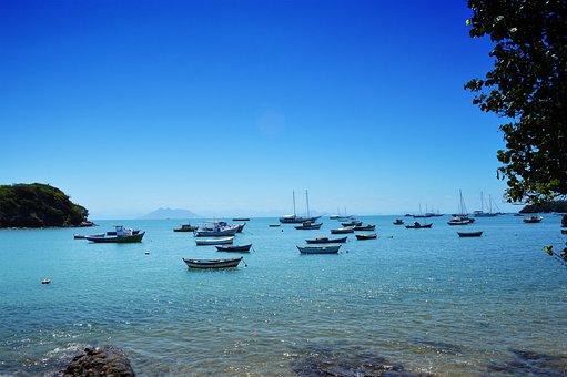 Beach, Búzios, Brazil, Costa, Sol, Holidays, Summer