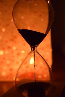 Time, Hourglass, Is Running Out, Transient, Hour, Night