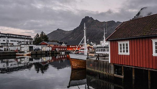 House, Wooden, Home, Wood, Architecture, Norwegian, Sea