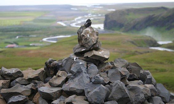 Cairn, Iceland, Icelandic, Landscape, Stone, Pile