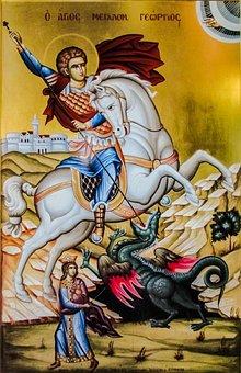 Ayios Georgios, Saint, Dragon, Iconography, Icon