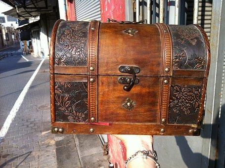 Treasure Box, Jewel Case, Casket, Old, Box, Wood
