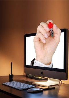 Apple, Imac, Iphone, Keyboard, Hand, 3d, Marker, Pen
