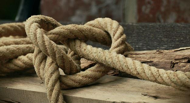 Rope, Natural Rope, Knot, Knitting, Dew, Bound, Coarse