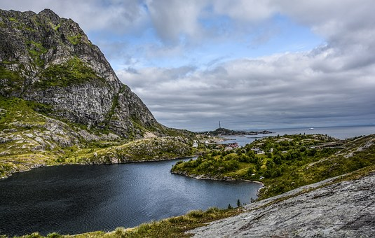 Mountains, Lake Fjord, Nature, Water, Landscape, Travel