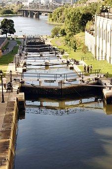 Quebec, Ottawa, Channel, Rideau Canal, Locks
