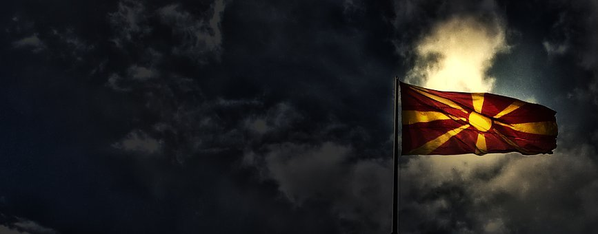 Macedonia, Flag, Country, Republic, Europe, Banner