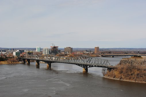 Bridge, Ottawa, River, Main City Canada