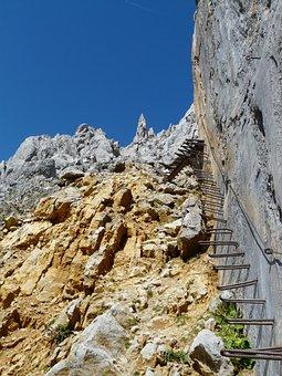 Gamsängersteig, Climbing, Shoring, Metal, Head