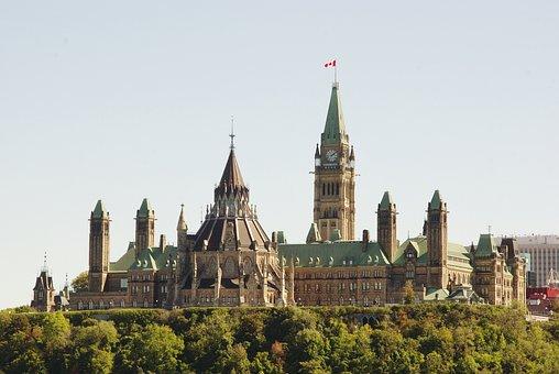 Canada, Ottawa, Parliament, Monument, Landscape