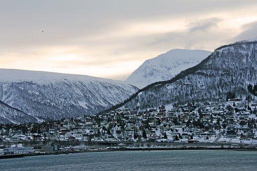 Arctic, Beautiful, Sky, Habour, Mountain, Cloud
