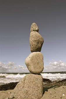 Stone, Stack, Beach, Sea, By The Sea, Water, Nature