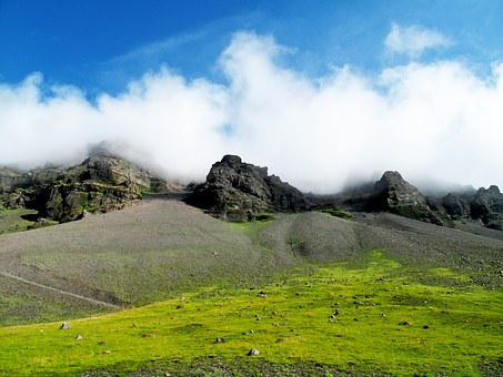 Iceland, Fog, Clouds, Nature, Landscape, Travel