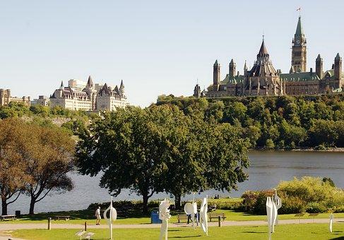 Canada, Ottawa, Parliament, Château Laurier, River Park