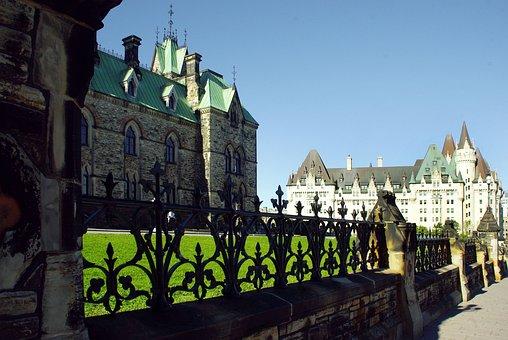 Canada, Ottawa, Grid, Laurier, Castle, Monument, Church